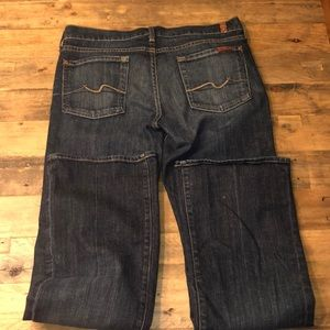 7 For All Man Kind Bootcut Dark Wash Jeans 30